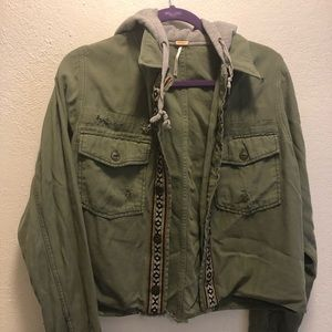 Free People Cropped Jacket